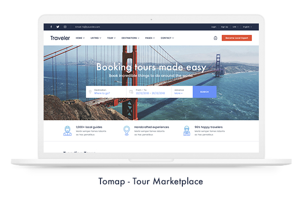 Travel Booking WordPress Theme - 9