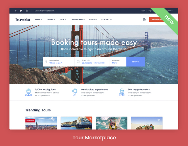Traveler - Travel Booking WordPress Theme - 8