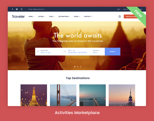 Traveler - Travel Booking WordPress Theme - 7